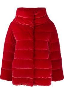 Herno High-Neck Quilted Jacket - Vermelho