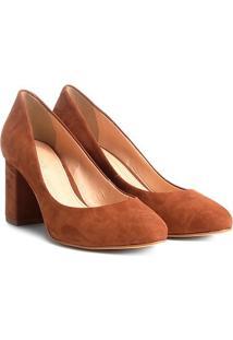 Scarpin Couro Shoestock Salto Médio Básico