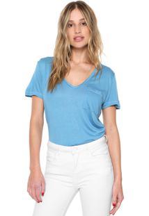 Camiseta Forum Com Bolso Azul