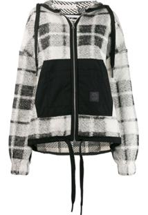 Mcq Alexander Mcqueen Checked Knit Cardigan - Branco