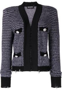Balmain Knitted Jacket - Roxo