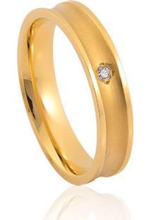 Aliança De Casamento Em Ouro 18K 3,9Mm Anatômica