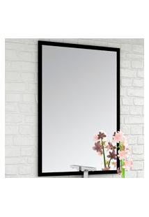 Espelheira Para Banheiro Bosi Urban/Pietra 60Cm Com Requadro Preto