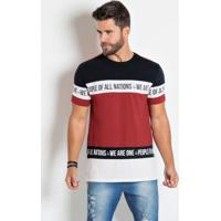 Camiseta Actual Vermelha Com Estampa E Recortes 0be95b02ef1