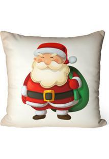 Capa De Almofada Love Decor Avulsa Decorativa Papai Noel Cute