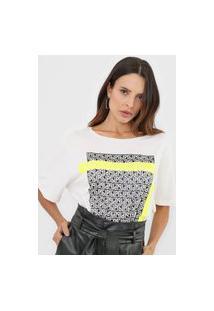 Camiseta Lança Perfume Oversize Logomania Off-White