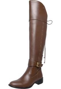 Bota Mega Boots Over The Knee Caramelo