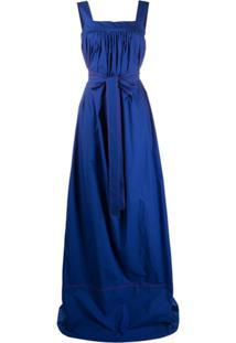 La Doublej Vestido Evasê Mimosa - Azul