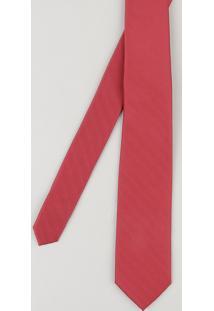 Gravata Masculina Em Jacquard Vermelha - Único