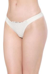 Calcinha Valisere Tanga Renda Off-White