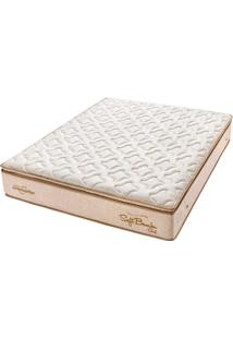 Colchão Queen Pillow Top Soft Bambu Gel One Face- Americanflex - Bege