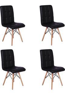 Cadeira E Banco De Jantar Impã©Rio Brazil Eiffel Gomos Estofada - Incolor/Preto - Dafiti