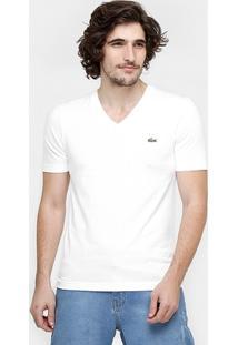 Camiseta Lacoste Lisa Gola V - Masculino