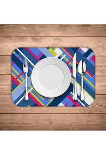 Jogo Americano - Love Decor Geometric Shapes Kit Com 4 Peã§As. - Multicolorido - Dafiti