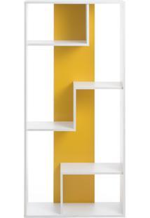 Estante Cambuci - Branco Com Amarelo