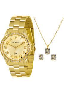 Kit Relógio Feminino Lince Lrgj031L K243C2Kx