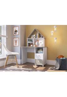 Escrivaninha Para Estudo C/ Gavetas Children'S House Branco Artinmóveis