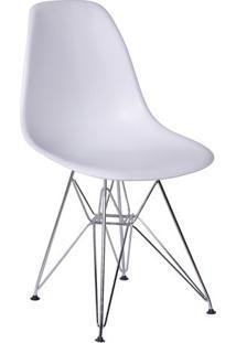 Cadeira Eames Dkr- Branca & Prateada- 80,5X46,5X42Cmor Design