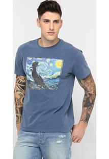 Camiseta Reserva Pica-Pau Arte Tinturada - Masculino-Azul