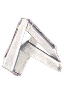 Pingente Feminino Cadarço Sne P Em Metal - Prata
