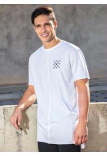 Camiseta Branca Mullet Com Estampa Costas