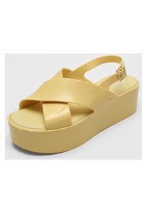 Sandália Melissa Essential Platform Amarelo