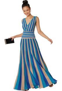 f92d7cf2e1 Vestido Lurex Renda feminino