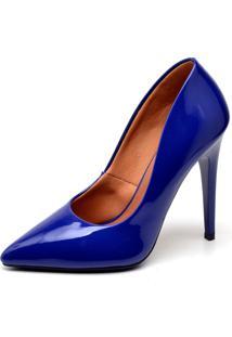 Scarpin Casual Ellas Online Salto Alto Azul