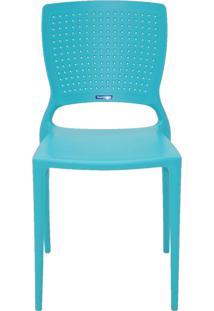 Cadeira Safira Em Polipropileno Tramontina Azul