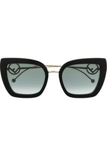 Fendi Eyewear Óculos De Sol F Is Fendi - Dourado