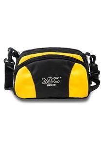 Shoulder Bag Mxc Brasil Mini Bolsa Lateral Ombro Necessaire Transversal Preto/Amarelo