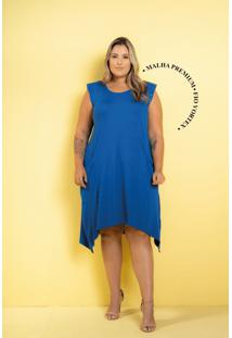 Vestido New Comfy Azul Royal Plus Size