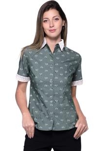 Camisa Lovestone Manga Curta Algodão Verde