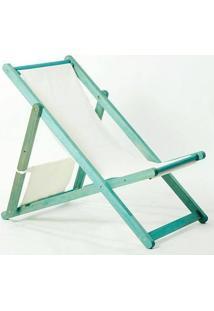 Cadeira Dobrável Sem Braços Opi Tec.01.237 Azul Mão E Formão