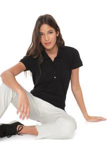 Camisa Polo Colcci Básica Preta