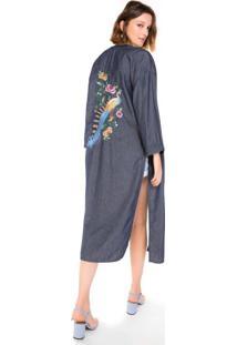 Kimono Jeans Fenda Lateral