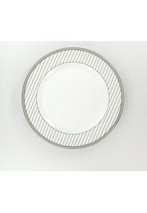 Conjunto De Pratos Rasos Porcelana Schmidt 06 Peças - Dec. Aline
