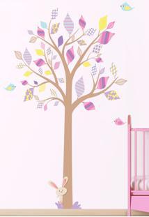 Adesivo Decorativo Stixx Árvore Encanto Menina Rosa