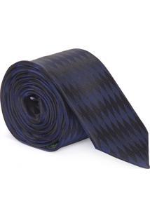 Gravata Losango - Azul E Preto