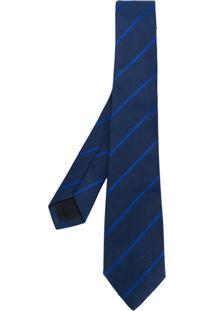 Versace Gravata Listrada - Azul