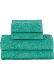 Jogo De Toalhas De Banho Com 05 Peças Mosaico Verde - Buddemeyer