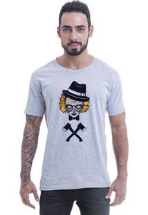Camiseta Blast Fit Cinza Caveira Jual Kaos Hipster