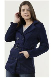 Casaco Feminino Trench Coat Manga Longa