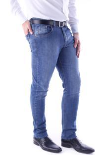 Calça 2187 Traymon Jeans Azul Indigo Modelagem 5 Bolso Skinny