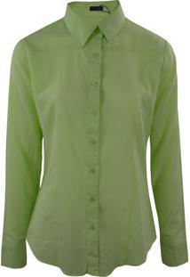 Camisa Gajang Manga Longa Verde