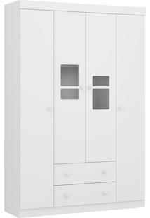 Guarda Roupa Multimóveis Travessura Plus 4 Portas Branco Premium