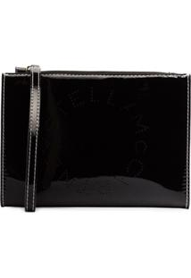 Stella Mccartney Clutch Com Logo - 1000 Black