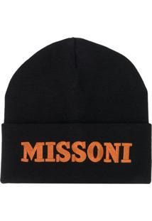 Missoni Gorro Com Logo Bordado - Preto