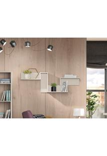Nicho Com Suporte Lateral Loft Off-White - Líder Design