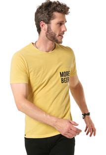 Camiseta Sergio K More Drinks Amarela